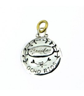 Beaches Jamaica Ocho Rios Resort Greek House Pendant 925 Sterling Silver