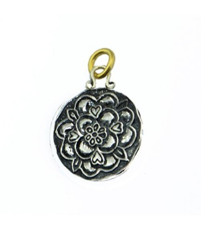 Pendants - Sandals Grande St. Lucian Resort Tudor Rose Pendant 925 Sterling Silver