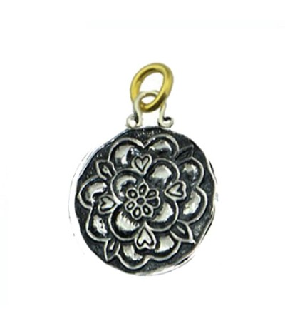 Sandals Grande St. Lucian Resort Tudor Rose Pendant 925 Sterling Silver