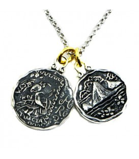 Pendants - Sandals Regency La Toq's Parrot + St. Lucia Les Pitons Sterling Silver Necklace with a Silver Finish Chain