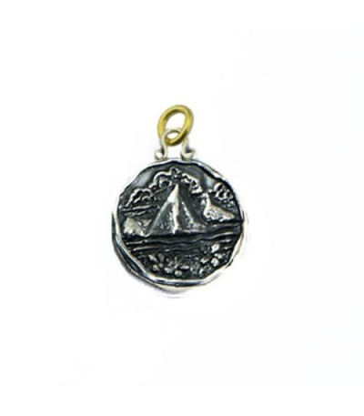 Pendants - Sandals St. Lucia Island Les Pitons Pendant 925 Sterling Silver