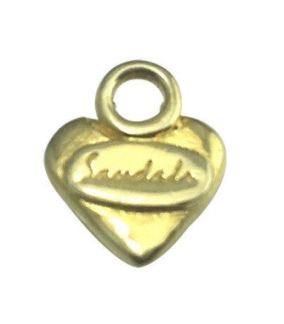 Pendants - Sandals Small Gold Plated Heart Pendant 925 Sterling Silver