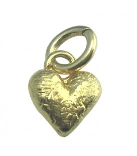 Sandals Small Gold Plated Heart Pendant 925 Sterling Silver