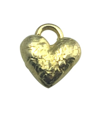 Sandals Small (.25 inch) Gold Plated Heart Pendant 925 Sterling Silver