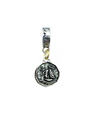 Sandals Antigua Island Yacht Bead Charm Sterling Silver
