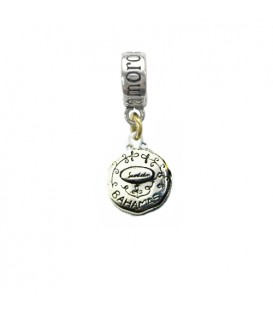 Sandals Bahamas Island Conch Bead Charm Sterling Silver