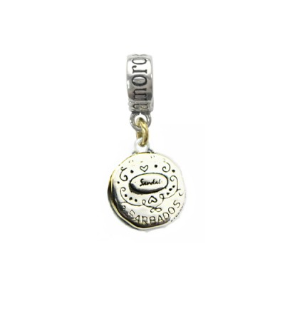 Sandals Barbados Island Flying Fish Bead Charm Sterling Silver