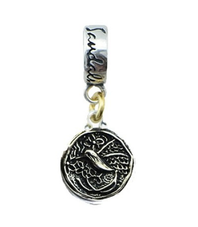 Pendants - Sandals Jamaica Island Long Tailed Hummingbird Bead Charm Sterling Silver
