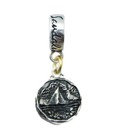 Pendants - Sandals St. Lucia Island Les Pitons Bead Charm Sterling Silver