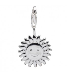 Sun Clip on Charm 925 Sterling Silver