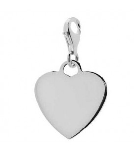 Engravable Heart Charm 925 Sterling Silver