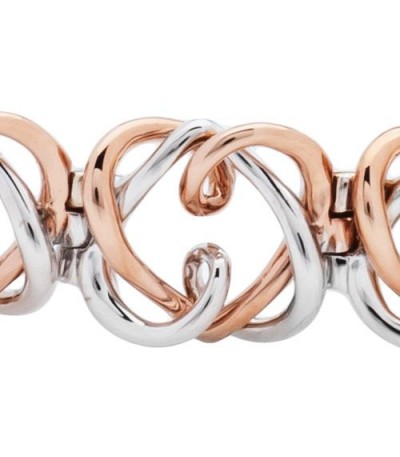 Amoro Hearts Bracelet 18Kt Rose and White Gold