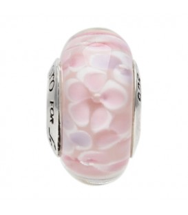 Sandals Murano Glass Petals Dream Bead Charm 925 Sterling Silver