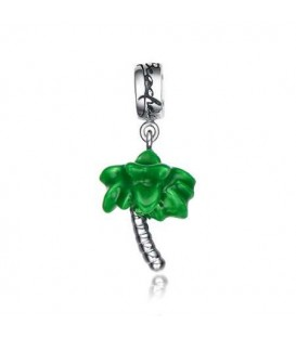 Beaches Palm Tree Bead Charm 925 Sterling Silver