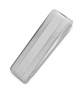 Sterling Silver Satin and Polished Money Clip