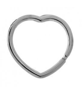 Sterling Silver Heart Shaped Key Ring