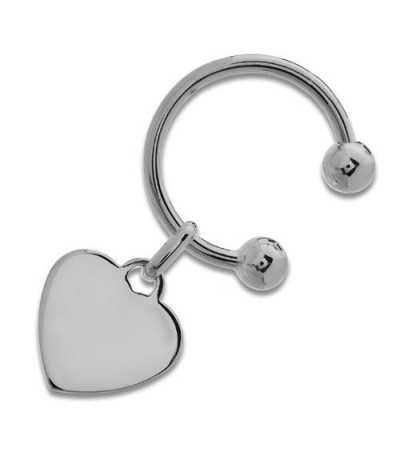 Men accessories - Sterling Silver Heart and Hoop Key Ring