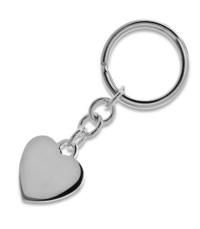 Men accessories - Sterling Silver Heart and Circle Key Chain