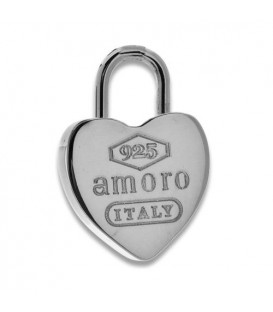Men accessories - Sterling Silver Heart Key Ring
