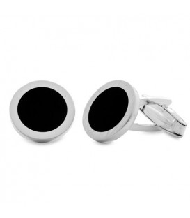 Men accessories - Sterling Silver and Enamel Cufflinks