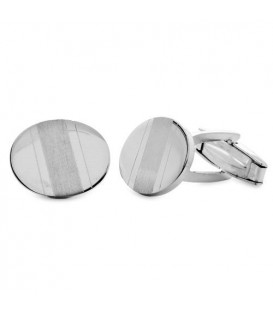 Men accessories - Sterling Silver Satin and Polished Cufflinks