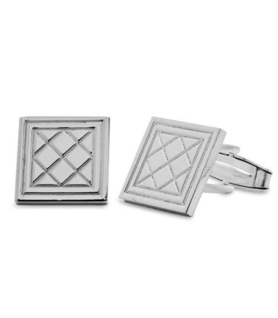 Men accessories - Sterling Silver Tartan Pattern Cufflinks