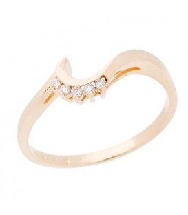 Rings - 0.21 Carat Modern Round Brilliant Diamond 14Kt Yellow Gold Ring