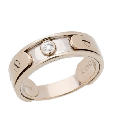 Rings - 0.07 Carat Classic Diamond 18Kt Two-Tone Gold Ring