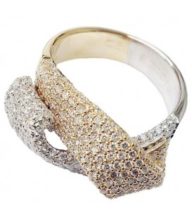 Rings - 1.65 Carat Classic Round Cut Diamond 14Kt Two-Tone Gold Ring