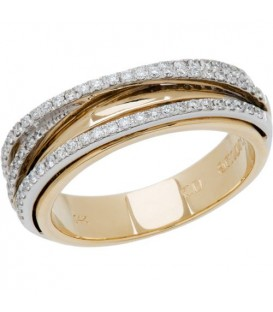 Rings - 0.34 Carat Classic Round Brilliant Diamond 14Kt Two-Tone Gold Ring