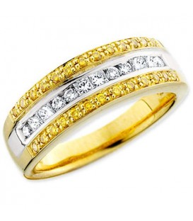 Rings - 0.50 Carat Round Cut Diamond 18kt Two-Tone Gold Ring