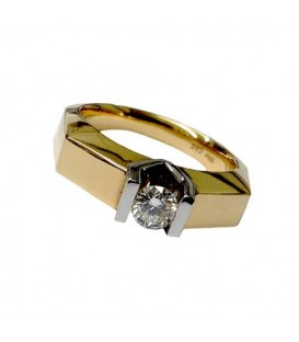 0.50 Carat Classic Round Brilliant Diamond 18Kt Yellow Gold Ring