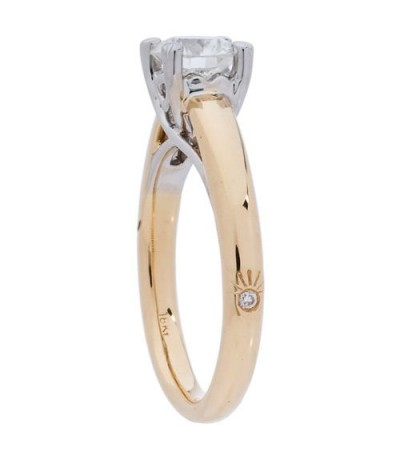 0.97 Carat Exclusive Round Brilliant Eternitymark Diamond 18Kt Yellow Gold Ring