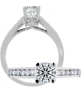0.49 Carat Exquisite 18Kt White Gold Ring Setting