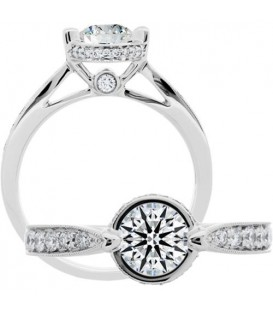 0.31 Carat Exquisite 18Kt White Gold Ring Setting