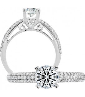 0.41 Carat Exquisite 18Kt White Gold Ring Setting