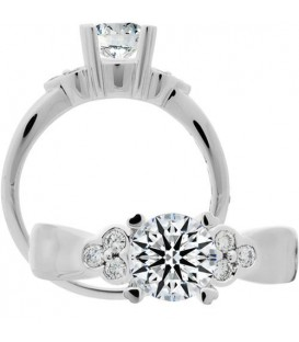 Semi-Mount - 1.14 Carat Exquisite 18Kt White Gold Ring Setting