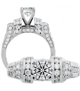 0.87 Carat Exquisite 18Kt White Gold Ring Setting