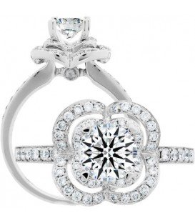 More about 0.40 Carat Exquisite 18Kt White Gold Ring Setting