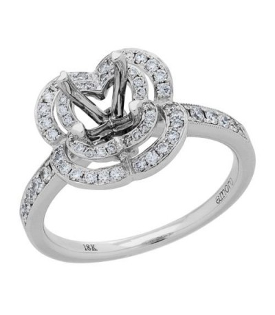 0.40 Carat Exquisite 18Kt White Gold Ring Setting