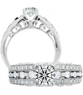 Rings - 0.45 Carat Exquisite 18Kt White Gold Ring Setting
