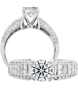 0.72 Carat Exquisite 18Kt White Gold Ring Setting