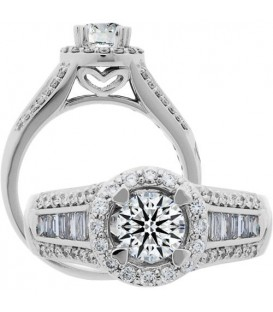 0.48 Carat Exquisite 18Kt White Gold Ring Setting
