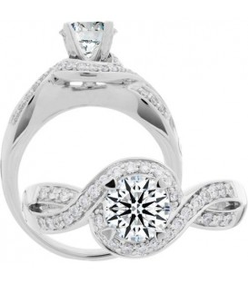 0.25 Carat Exquisite 18Kt White Gold Ring Setting