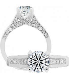 Semi-Mount - 1 Carat Exquisite 18Kt White Gold Ring Setting