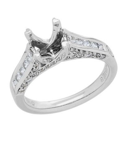 0.68 Carat Exquisite 18Kt White Gold Ring Setting