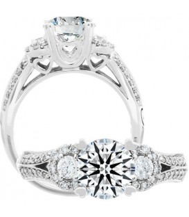Semi-Mount - 1.40 Carat Exquisite 18Kt White Gold Ring Setting