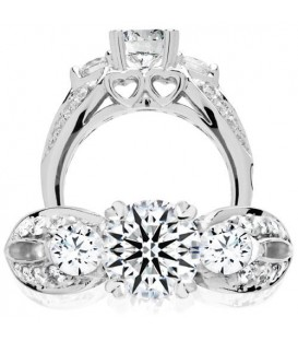 More about 0.75 Carat Exquisite 18Kt White Gold Ring Setting