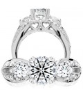 0.75 Carat Exquisite 18Kt White Gold Ring Setting