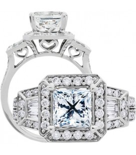 Semi-Mount - 1.75 Carat Exquisite 18kt White Gold Ring Setting